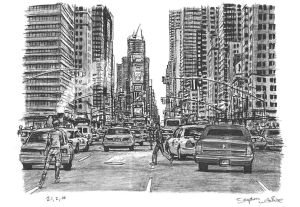 york rush hour wiltshire stephen drawings stephenwiltshire