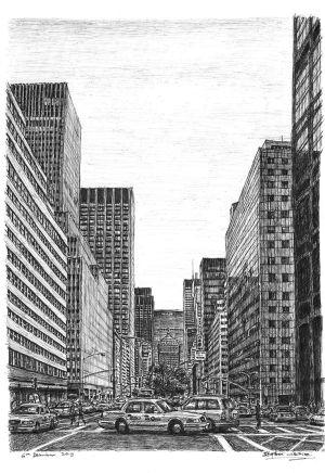 wiltshire stephen york drawing drawings street landscape scene park avenue pencil hard scenes paintings artist lebende kamera level
