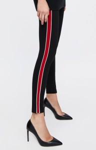 LEGGINGS WITH PIPED SIDE STRIPES DETAILS 19.99 GBP Colour- Black 4432:383