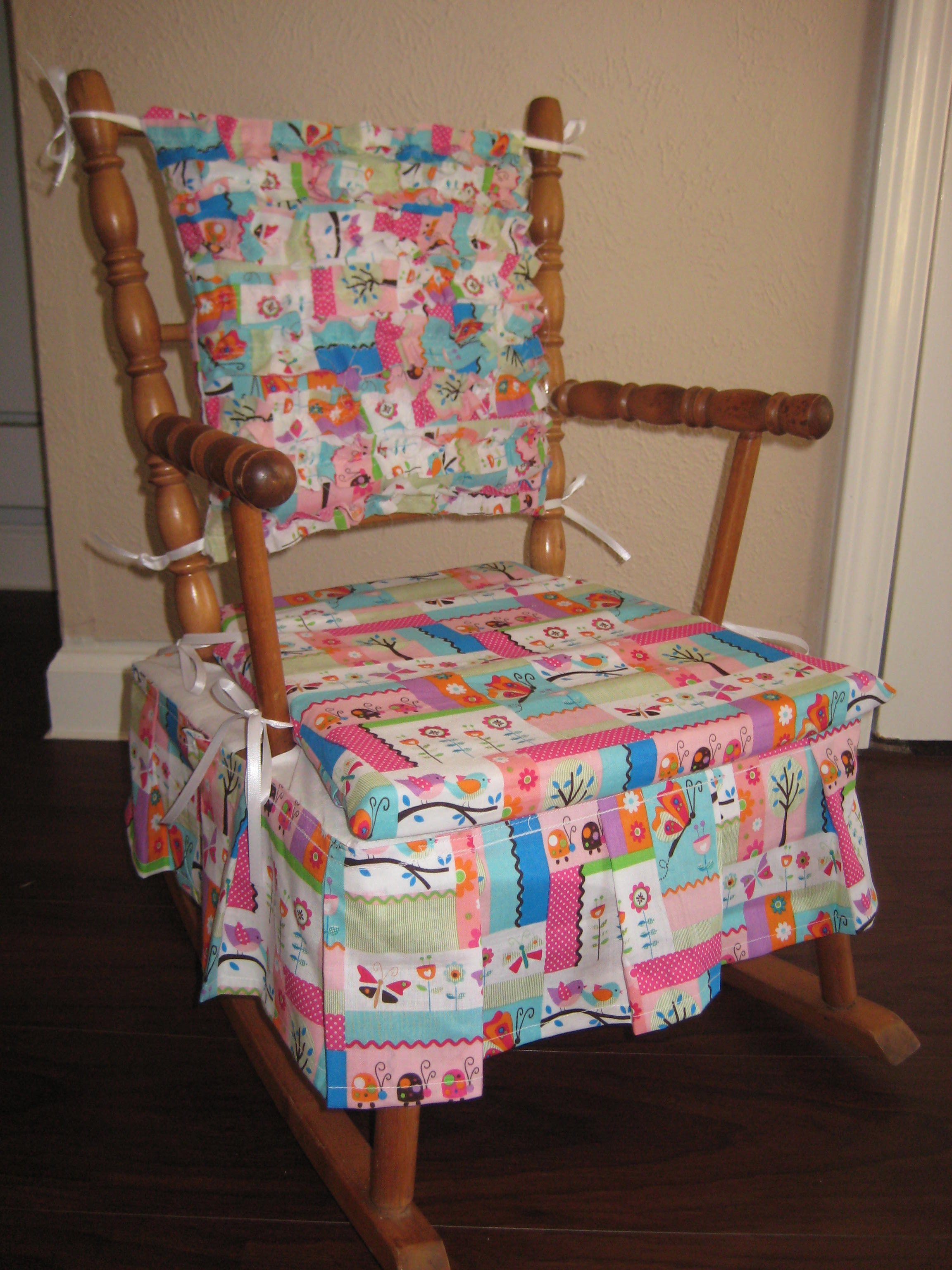 childrens rocking chair cushions coca cola bistro table and chairs baby cushion  pads