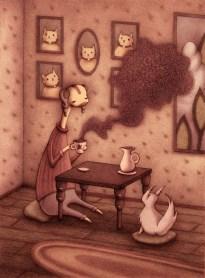 Winston having Coffee
