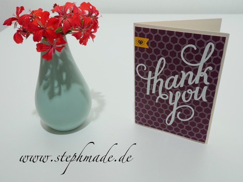 Dankeskarte mit dem Stempelset Another Thank You