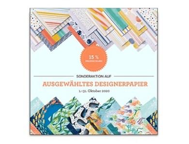 Designerpapier-Aktion im Oktober