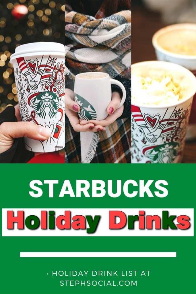 starbucks holiday drink list