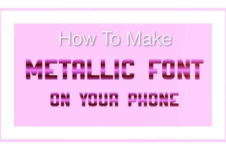 metallic font