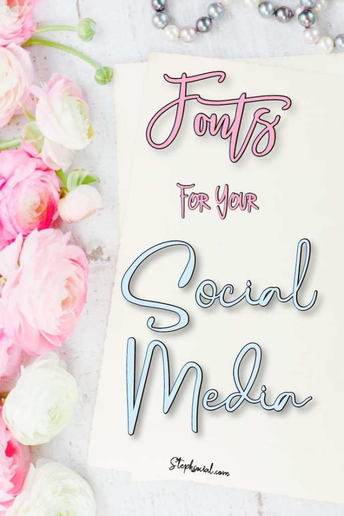 fonts for your social media