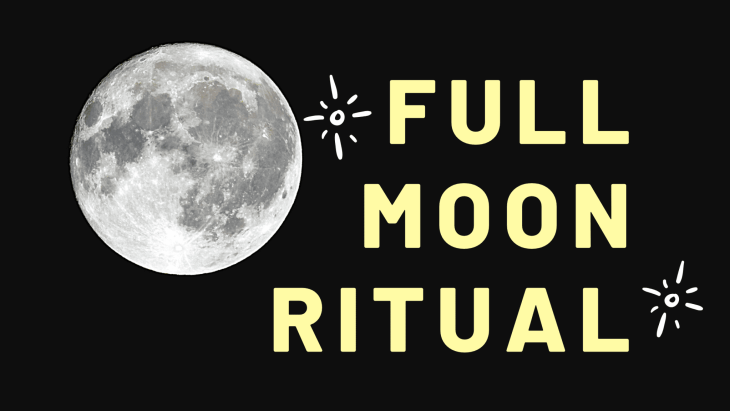 Try this full moon ritual for manifestation.