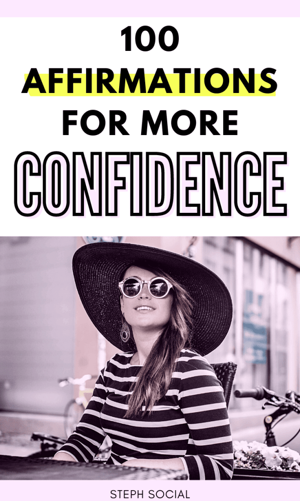 Confidence Affirmations to boost your self esteem!