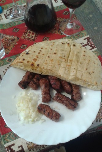 Cevapcici, this time with no soft cheese.