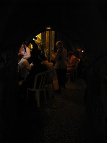 In this small alcove, the faithful pray near the Wall that is believed to be the the closest possible to the last location of the Ark of the Covenant.