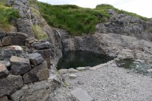 The hot springs are called hot pots.