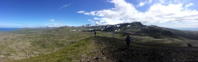 The view of Snaefellsnesjokull from Hregnassi.