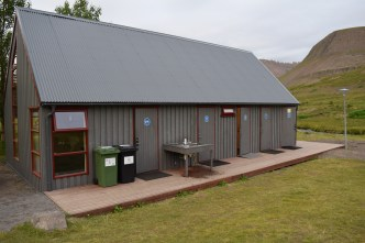 The toilets, showers and laundry facilities.