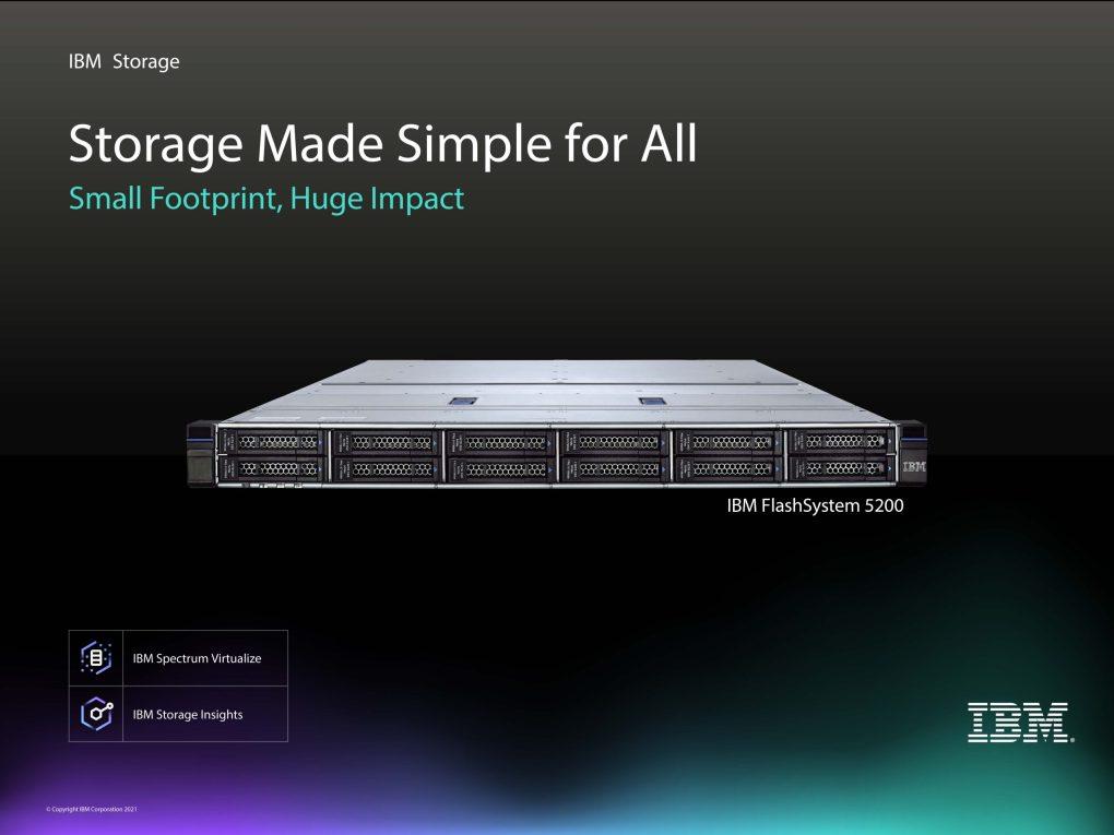 Geschäftsprozesse beschleunigen mit IBM FlashSystem 5200