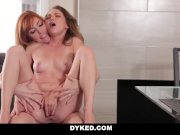 Dyked Horny Stepmom seduces young Daughter