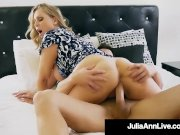 Step Mother Julia Ann Mouth Fucks Step Sons Cock