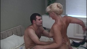 Horny Blonde Stepmom Taking Stepsons Cock For