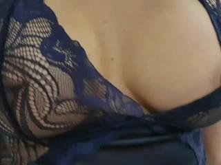 Beautiful Stepmom help son to cum for last