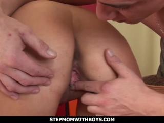 StepmomWithBoys Hot Stepmom Sucking Stepsons