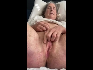 Horny Mature Stepmom Fingers Her Pussy For Son