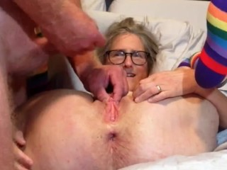 Horny Milf Loves To Gape Her Cunt For You Stepdad