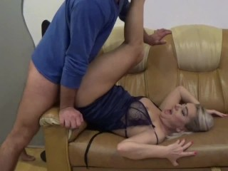 Massage Stepmom and fuck his shaved pussy