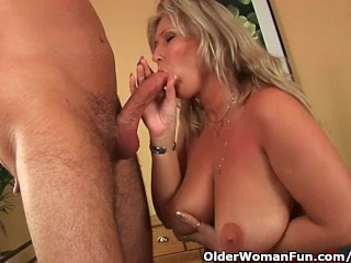stepmom wants your cum on her big boobs