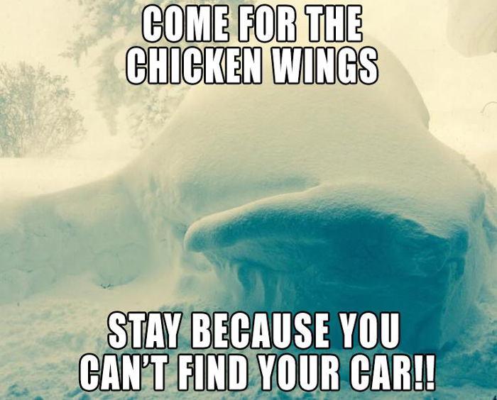 Chicken Wings Funny Meme: Buffalo Wild Wings Restaurant