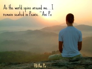 seated in peace