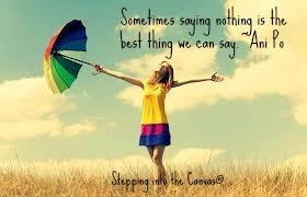 saying nothing