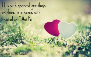 with deepest gratitude