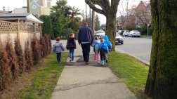 walking to the school park