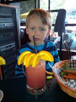 Willem's first solo restaurant order