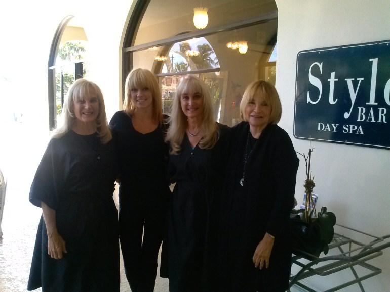Deb + Rene at Style Bar Salon-With Diana + Perry-11-2-13CAM00649
