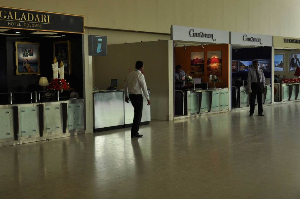 Information desk at Sri Lanka International Airport (Bandaranaike International Airport)