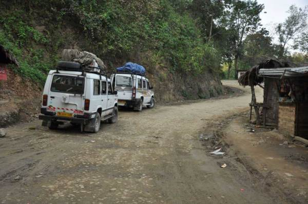Road from Sonari to Mon. Nagaland