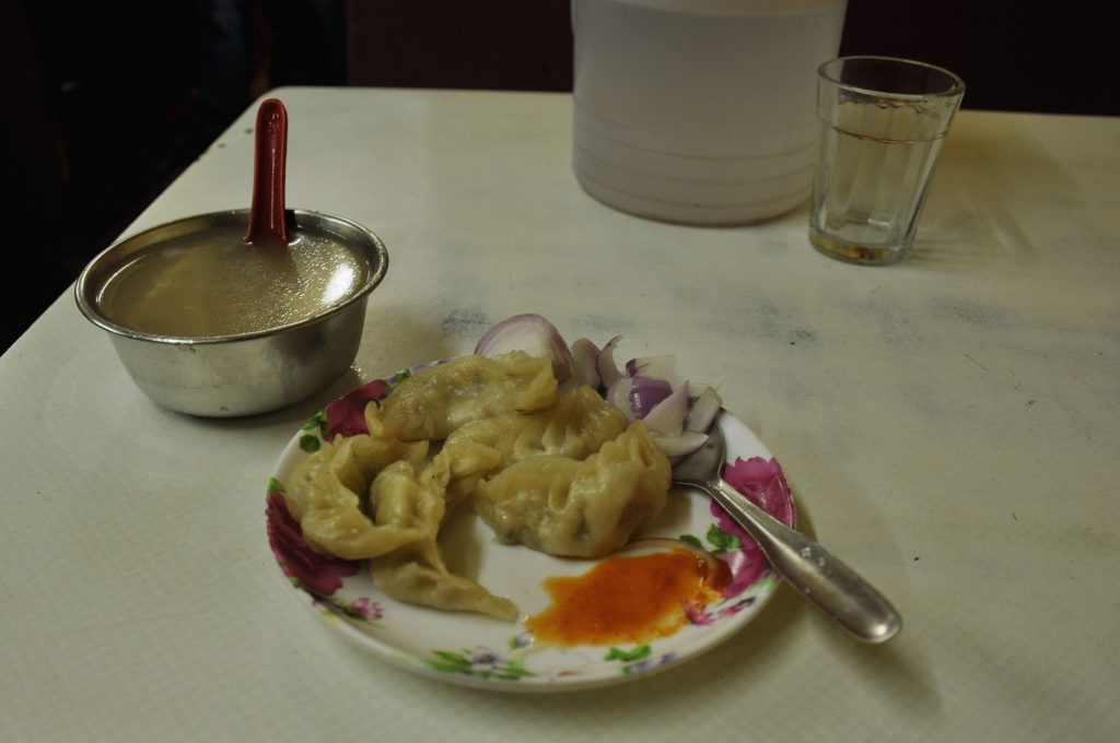 From Tibet came the momos, a small bun stuffed with meat or vegetables.