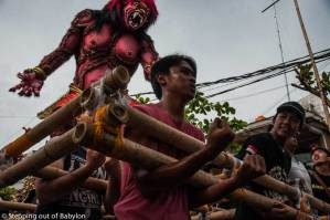 Ogoh-ogoh… the parade of the evil spirits