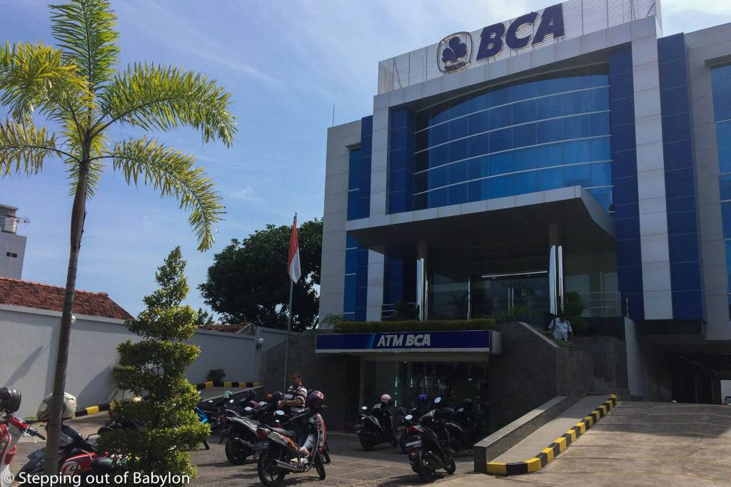 Money changer at BCA bank,