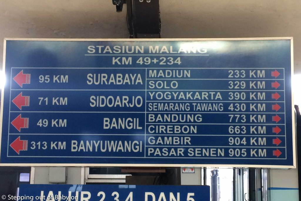 Main destination by train from Malang