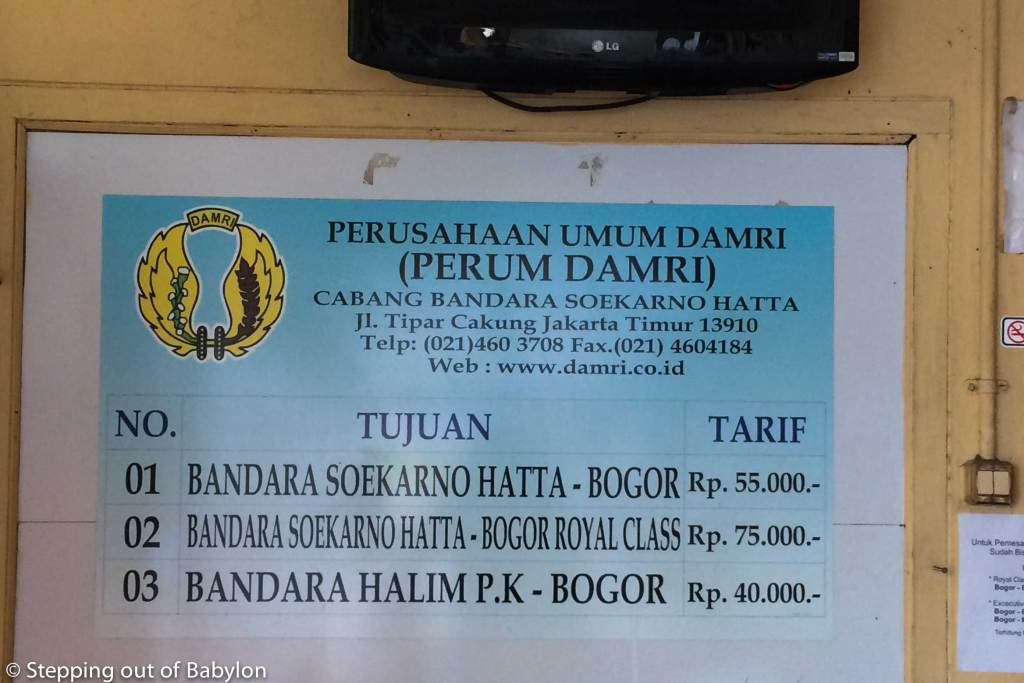 How to go from Bogor to Jakarta Airport. Ticket fee