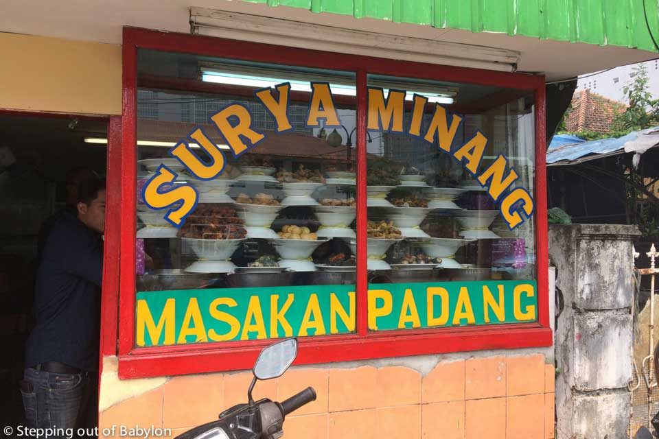 Surya Minang... a masakan padang with tasty, simple and cheap food. Is better arrive before 1 p.m. as the runs out quickly!