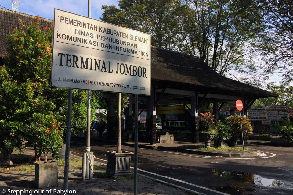 Terminal Jombor at Yogyakrta from the buses to Borobudur departure