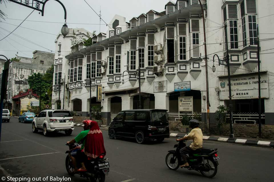 Old colonial building that still resist from the neglected old part of Medan