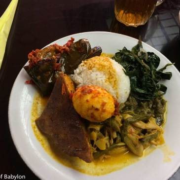 Masakan Padang… the most popular Indonesian cuisine