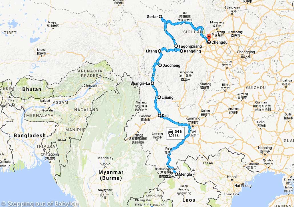 28 days in China: map, cost and itinerary