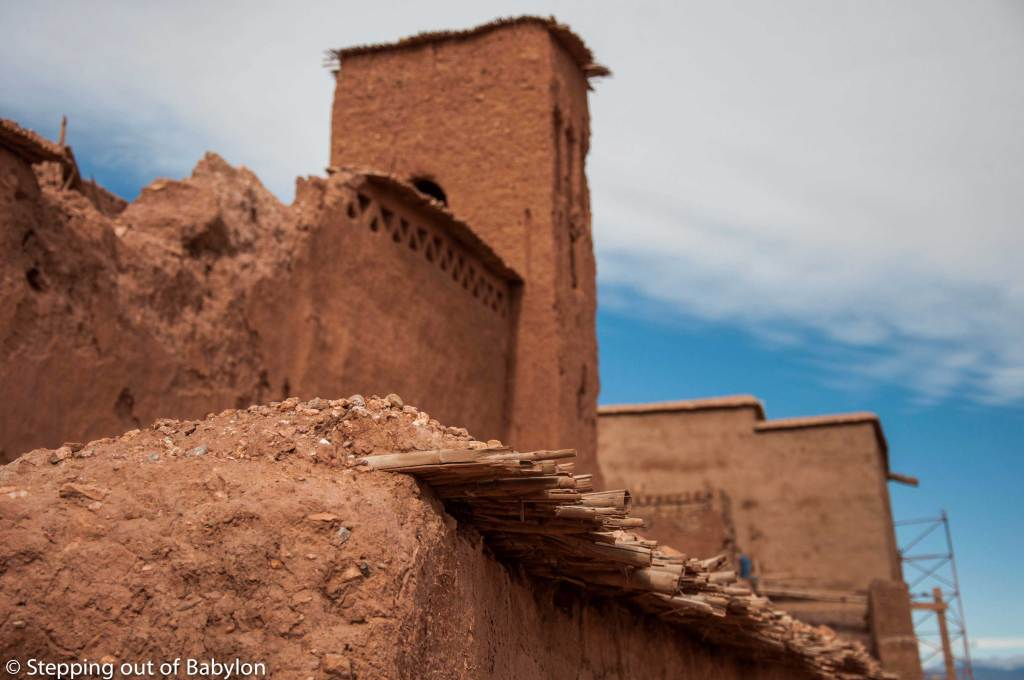 Aït Ben Haddou. traditional clay construction in an area where the rain is scarce