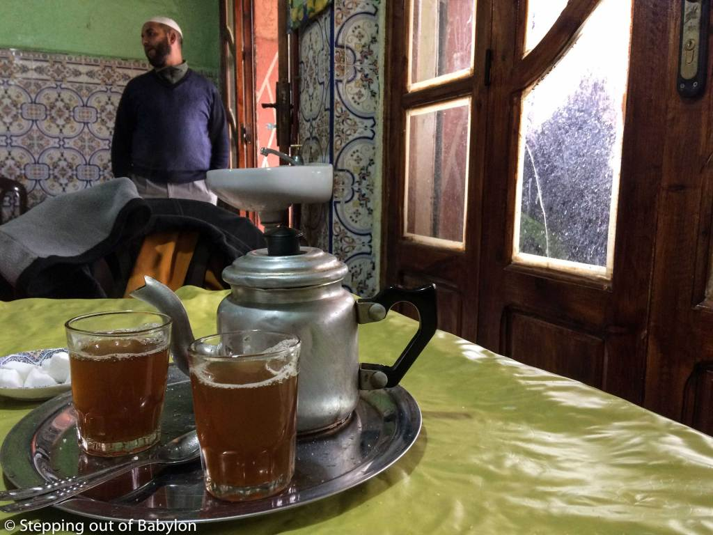 one of the local stall in Imlil where you can have a tagine or drink a tea