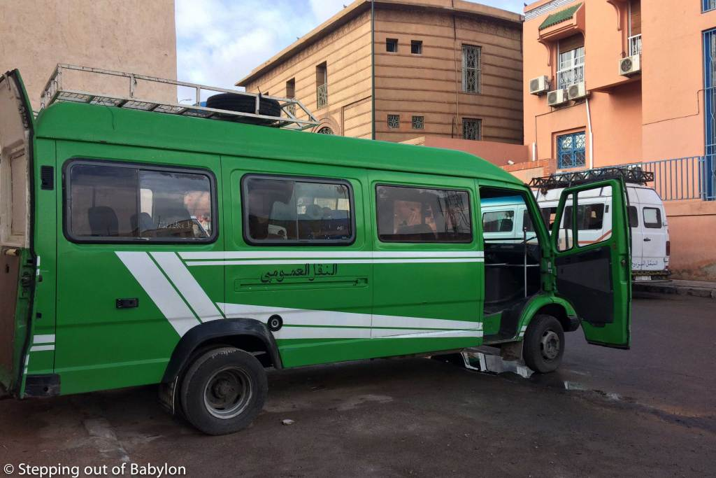 Bus that link Marrakesh to Imlil
