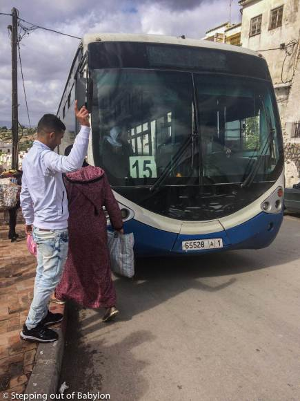 Bus 15 from Meknes to Mulay Idriss